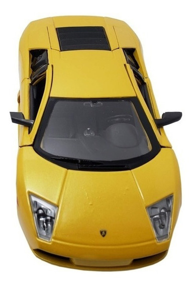 Miniatura Lamborghini Murciélago Escala 1/24 Amarela