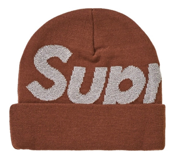 Supreme Big Logo Gorro (fw19) Marrón