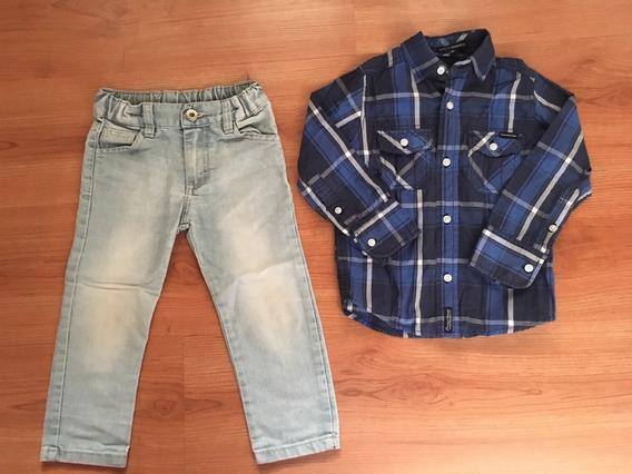 Pantalón Jean Mimo + Camisa Kevingston Talle 2 - Usado