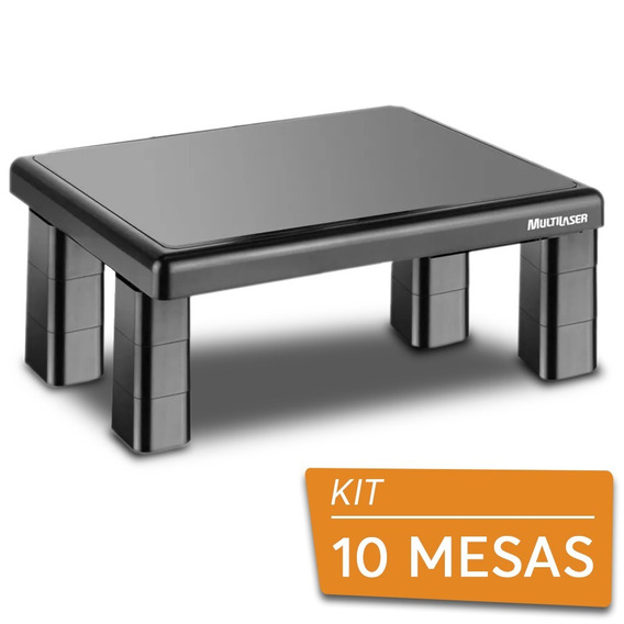10 Suportes Base Para Monitor De Mesa Quadrado Multilaser
