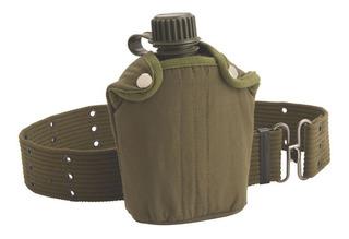 Cantil Militar Com Cinto Coleman 800ml - Camping Trilha
