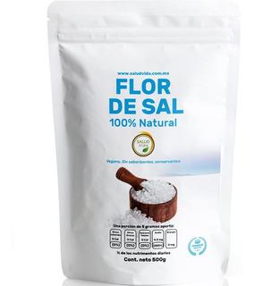 Flor De Sal Gourmet 500 Gramos 100% Natural