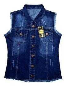 Colete Jeans Feminino Plus Size P M G G1 G2 G3 Moda 2019