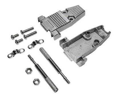 Kit Com 10 Capas Metalicas P/conector Db09 Ou Hd15 - Connfly