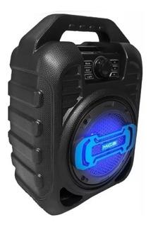 Parlante Portatil Zealot Mce123 Bluetooth Luces Bateria