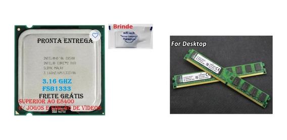 Processador775 Intel 2duo E8500 3,16ghz Semi Novo+ 1 Memória