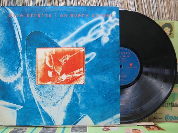 Dire Straits On Every Street Lp Vertigo 1991 Stereo Encarte