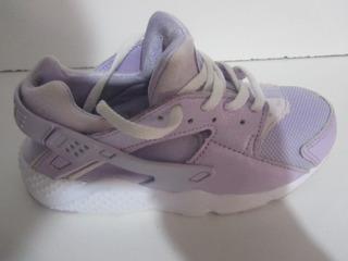 Tenis Nike Huarache Color Lila Talla 20cm C1065