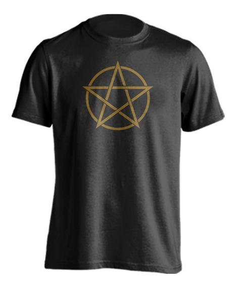 Playera Pentáculo Pentagrama Wicca Gótico Esoterismo Ocultis