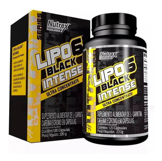 Lipo 6 Black Intense (120 Caps) - Nutrex Ultra Concentrado