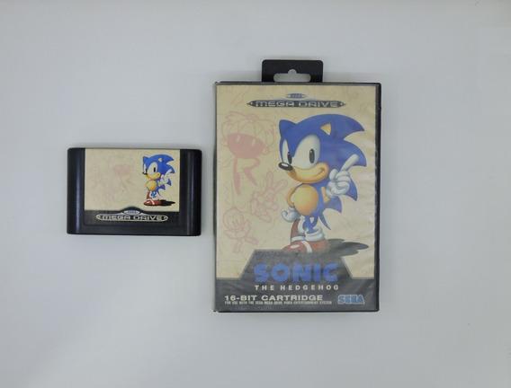 Sonic The Hedgehog Original Na Caixa Mega Drive