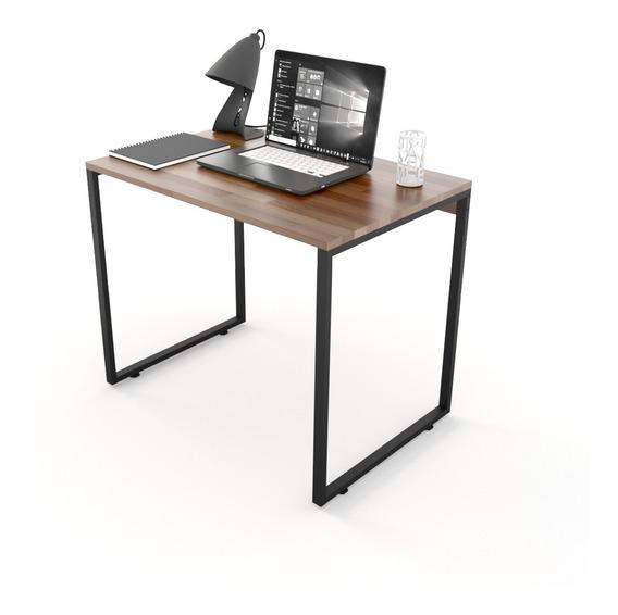 Mesa Para Escritório Diretor Estilo Industrial 90cm Madeira