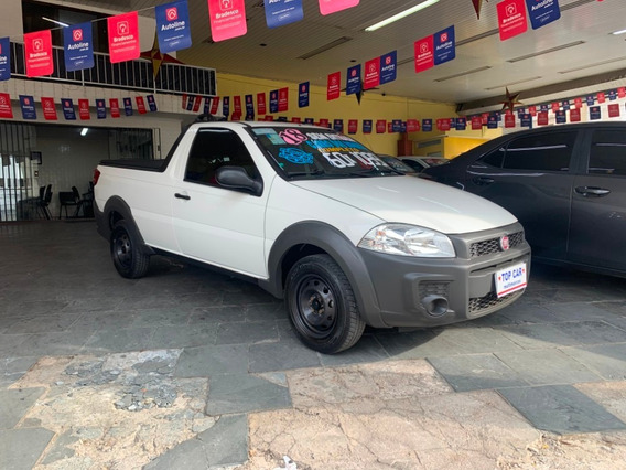 Fiat Strada Working 1.4 Branca (flex) (cabine Simples) 2018