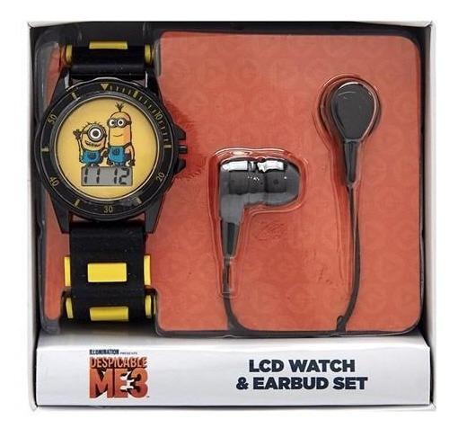 Reloj Minions Con Set De Audifonos