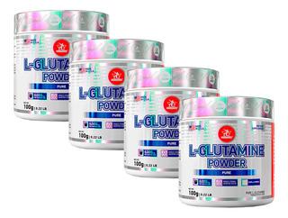 4 L-glutamina Powder - 100g Cada - Midway Labs + Com Nf-e