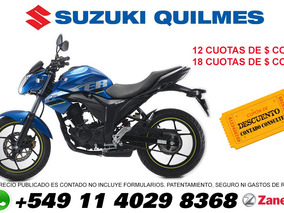 Suzuki Gixxer Gsx 150 Financio 100% Con Dni Y Tarjetas