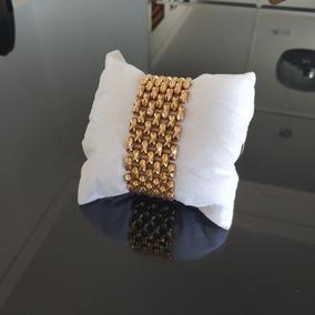 Pulseira Bracelete De Ouro Feminina 18k 47g