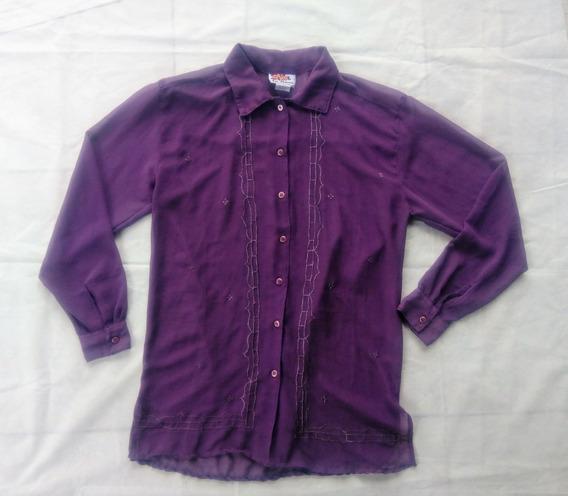 Camisa De Gasa La Femme (de La India) Talle S