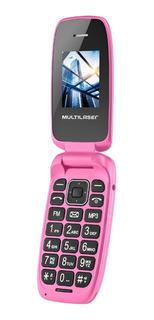 Celular Barato Feminino 2 Chips Radio Fm Mp3 Câmera Prático
