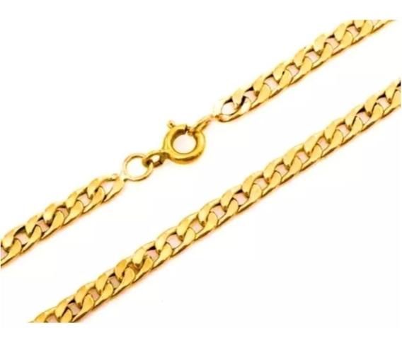 Corrente Masculina Ouro 18k Elo Grumet 10g 60cm Oca + Porta Joias 0005