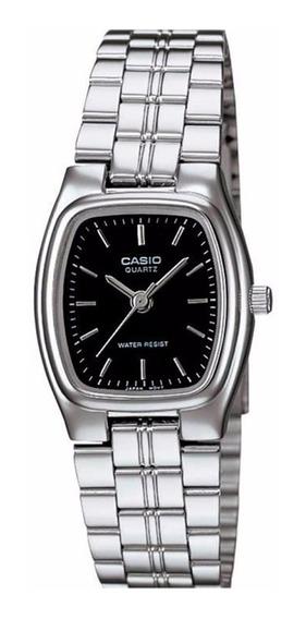 Relogio Casio Ltp 1169d-1a Fem Aço Wr Clas Retrô Vintage