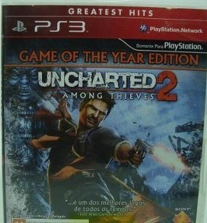 Frete Gratis - Uncharted 2 Among Thieves - Midia Fisica