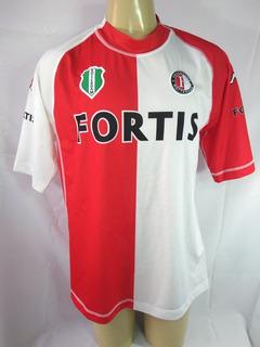 Camisa De Futebol Feyenoord Holanda Kappa Fortis 2004 2005