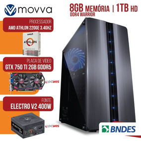 Computador Athlon 220ge 3.4ghz 8gb 1tb Gtx750ti 2gb 128bits