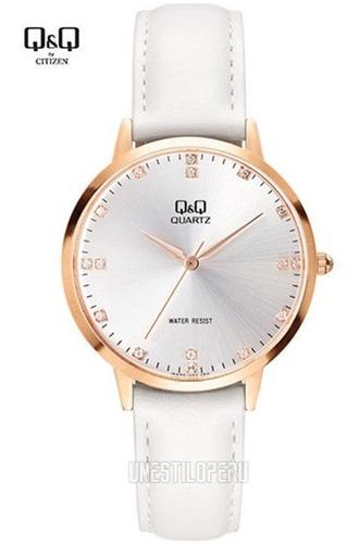 Reloj Q&q Mujer Casual Cuero Pulsera 100% Original Q Q