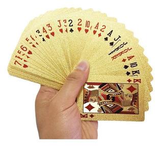 Cartas Baralho Dourado De Truco / Poker / Mágica Impermeável