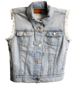 Chaleco Mezclilla Dama Mujer Trd Hepburn Vest Twv00117