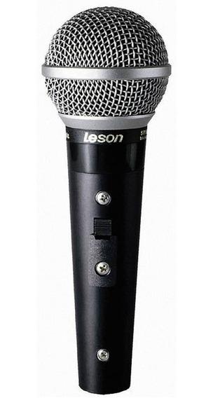 Microfone Leson Sm58 Plus Nota Fiscal Garantia Mostruário *