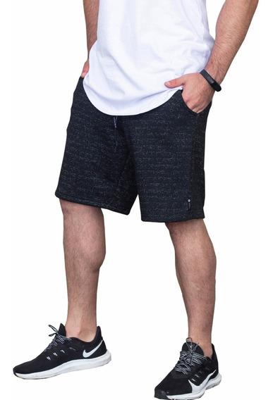 Bermuda Short Masculino Moletom Academia Esporte Fitness