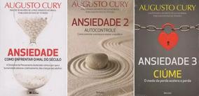 Augusto Cury Ansiedade 1, 2, 3 - Lacrado - Link Na Descrição