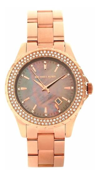 Relógio Luxo Michael Kors Mk5453 Orig Chron Anal Ouro Rose!!