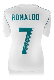 Cristiano Ronaldo Playera Firmada Del Real Madrid 2017-18