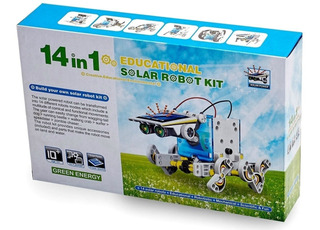 Kit 14 En 1 Robot Solar Robótica Educacional
