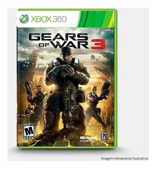Jogo Gears Of War 3 Mídia Física Novo Original Frete Grátis