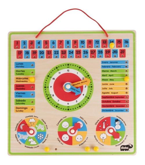 Calendario Interactivo Rompecabezas De Madera Para Niños