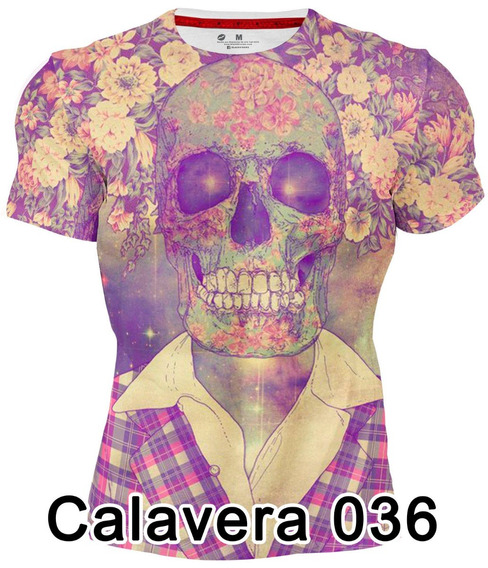 Playera 3d Sublimada Full Print Caballero Calavera 036