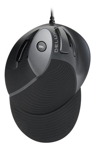 Delux M618bu Ergonômico Vertical Mouse 6 Botões Ratos Ópt