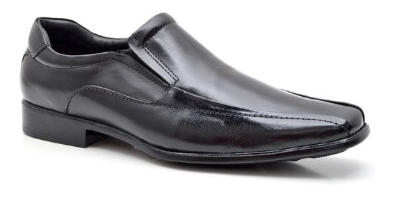 Sapato Social Masculino Em Couro Fork 8934 - Preto