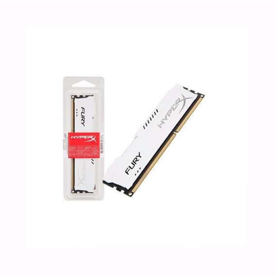 Memória 8gb 1600mhz Ddr3 Kingston Hyperx Fury White