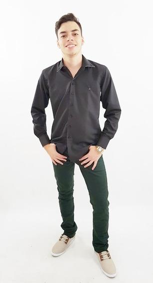 Kit 3 Calça Jeans Masculina Skinny Com Lycra