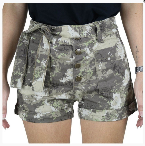 Shorts Feminino Sarja Rock Forest