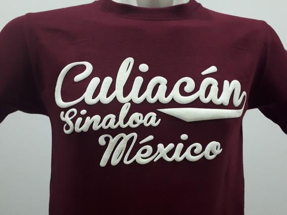 2 Playeras Puro Sinaloa Compa Culiacán Beisbolera Tinto
