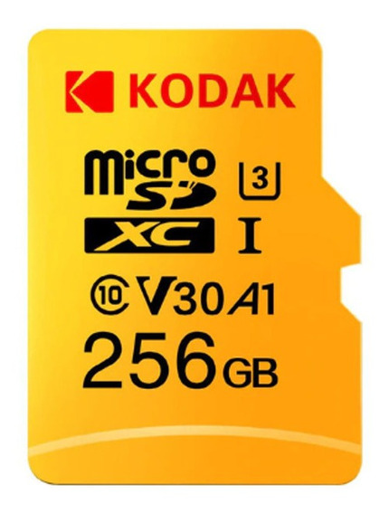 Cartão Microsd 256gb Kodak Original Pc Celular Tablet Som