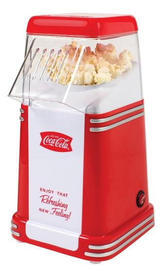 Máquina de palomitas Nostalgia RHP310COKE aire caliente roja 1040W 120V