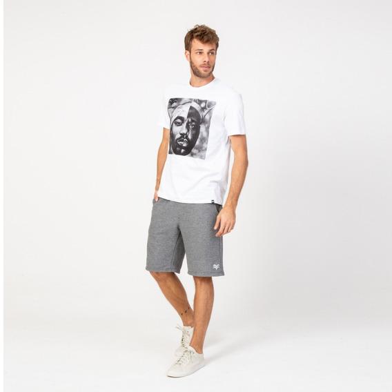 Camisa Casual Masculina T-shirt Estampada Branca Vonpiper