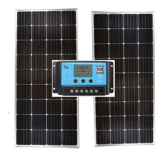 2 X Panel Solar Fotovoltaico 170 Watts + Regulador 30 Amp